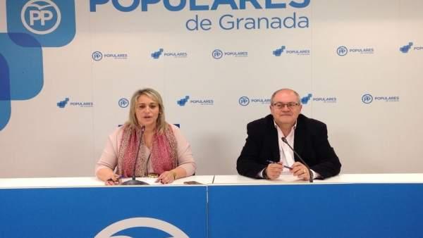 Los diputados provinciales del PP María Merinda Sádaba y Antonio Ayllón