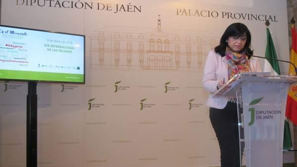 Medina presenta el programa con motivo del Día Internacional de la Mujer.