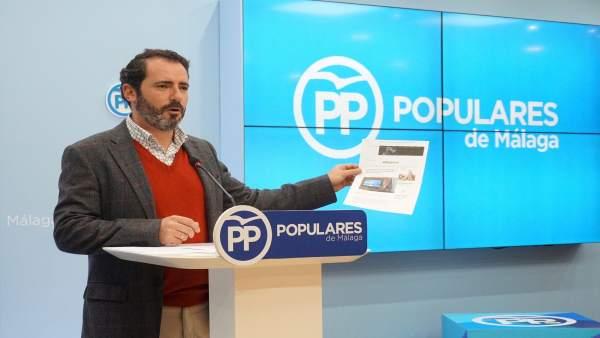 José Ramón Carmona, portavoz del PP de Málaga,