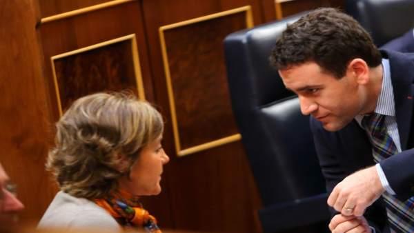 Tejerina y Teodoro García en el Congreso