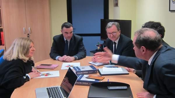 Reunión de Covite con la 'delegación de Iparralde'.