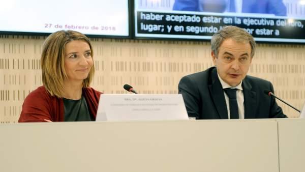 Alicia García junto a José Luis Rodríguez Zapatero