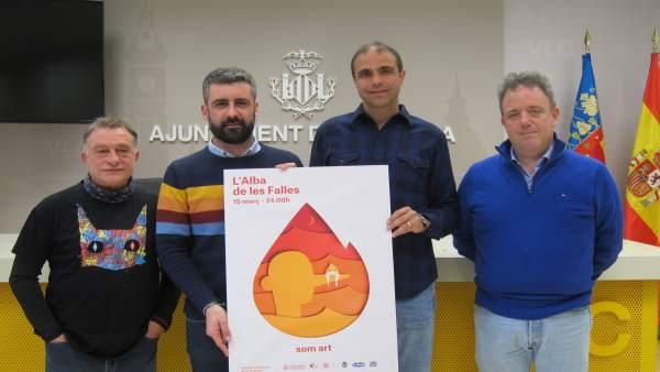 Borrego, Fuset, Caballer y Albiñana presentan 'L'Alba de les Falles'