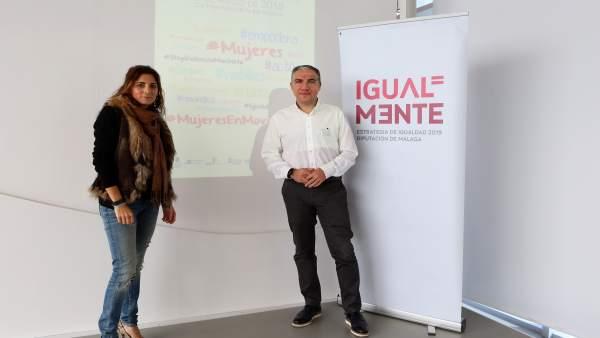 Elías Bendodo junto a Ana MAta diputada Igualdad y vicepresidenta diputación MLG