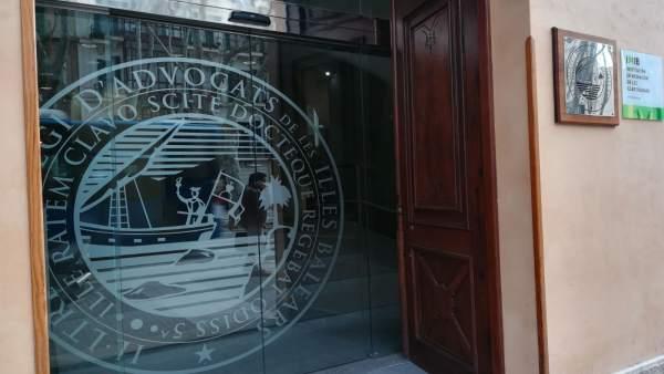 Fachada del Colegio de Abogados de Baleares