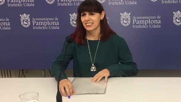 Maite Esporrín, concejal del PSN.