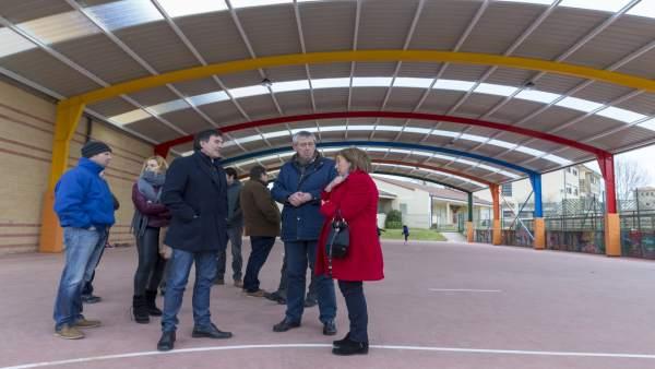 Inauguración de la cubierta de la pista polideportiva de Ajo