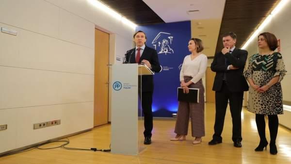 Rafael Hernando, tras reunión con la alcaldesa de Logroño