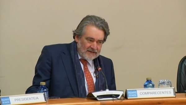 El conselleiro maior de Contas, José Antonio Redondo