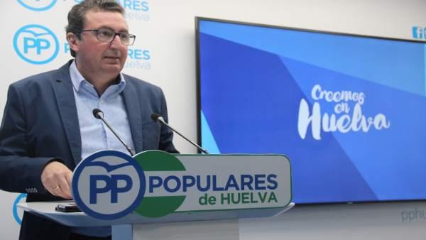 El presidente provincial del PP de Huelva,Manuel Andrés González.