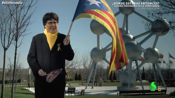 Joaquín Reyes, a lo Puigdemont