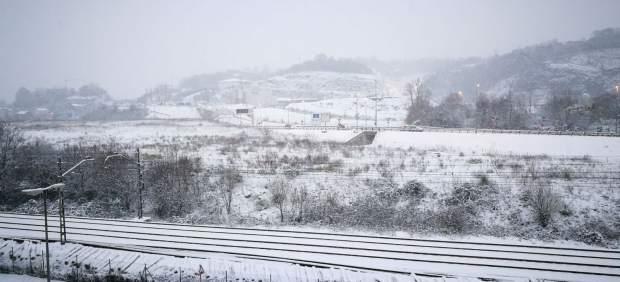 Donosti completamente nevada