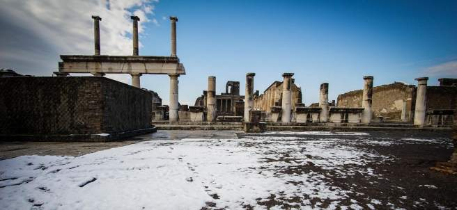 Nieve en Pompeya