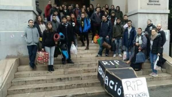 Encierro Rectorado de València