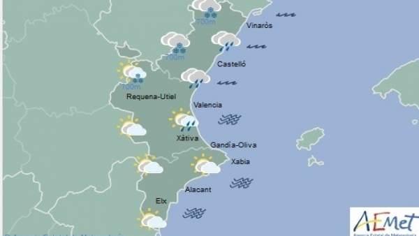 Pugen les temperatures a la Comunitat Valenciana i les pluges remetran al final del dia