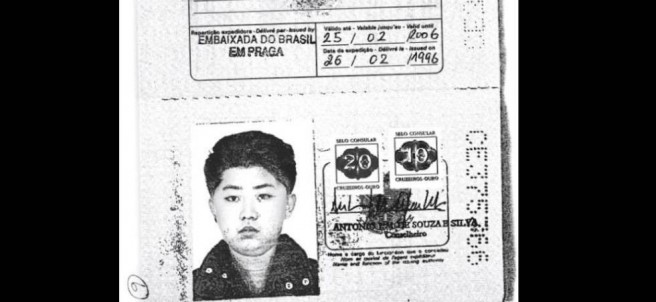Pasaporte falso de Kim Jong-un