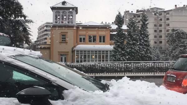 Nieve en Oviedo.