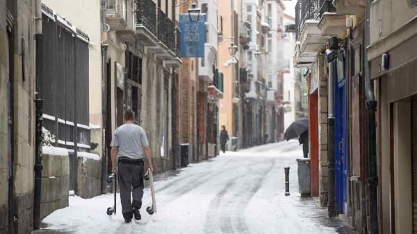 Nieve en Vitoria