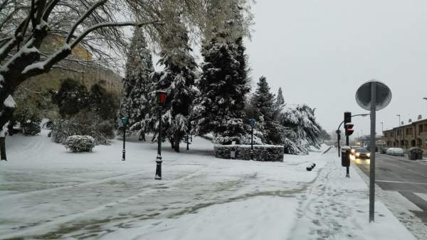 Nieve caída en Zamora