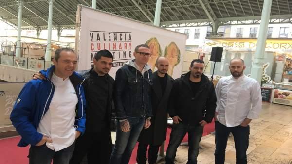 Los chefs en el encuentro de Valencia Culinary Meeting