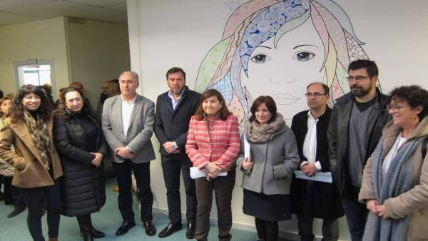 Concejales del Ayuntamiento de Valladolid en el nuevo Centro de Igualdad
