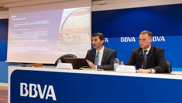 """BBVA preveu que el PIB de la Comunitat cresca """"almenys"""" un 2,4% en 2018 i en 2019 i la creació de 100.000 ocupacions"""