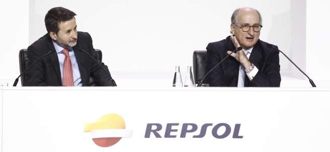 Josu Jon Imaz y Antonio Brufau, Repsol