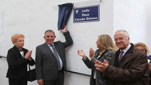 Alcaldía Inauguración Calle Paco Cerván Y Fotos