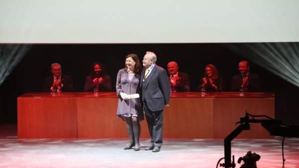 Castro con Armengol en la entrega de los Premis Ramon Llull