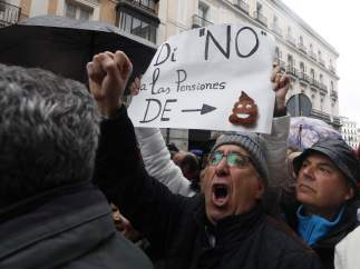 Manifestación pensionistas en Madrid