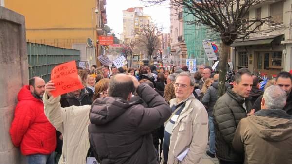 Protesta de interinos en el Gobierno