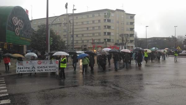 Manifestación de trabajadores de justicia