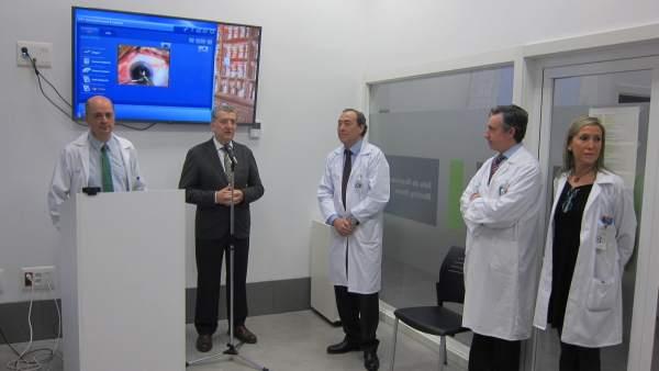 Celaya visita la unidad de cataratas del Hospital Nuestra Señora de Gracia