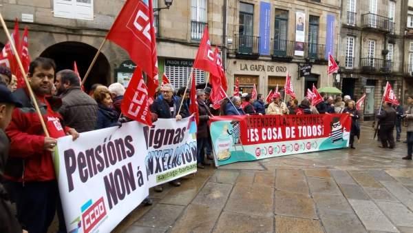 Protesta de pensionistas en Santiago