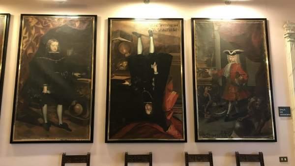 Retrato de Felipe V girado.