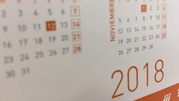Calendario Laboral 2019 Ciudad Real.Calendario Laboral 2018 Festivos Y Puentes