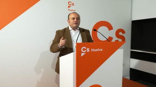 El parlamentario por Ciudadanos y portavoz en Huelva, Julio Díaz.