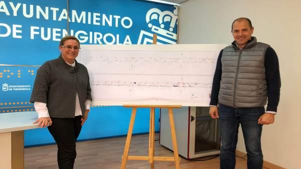 Presentación de obras en calle Romería del Rocío de Fuengirola
