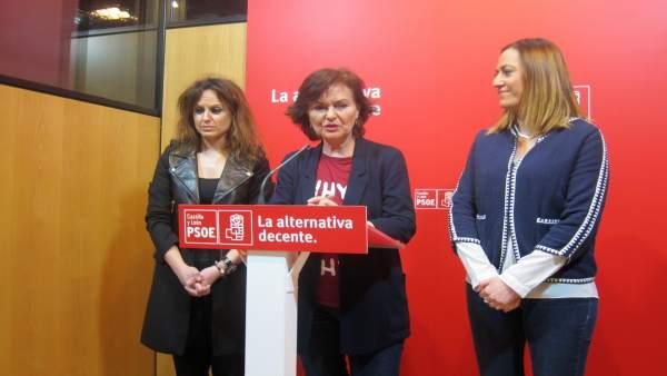 Calvo (centro), Gómez (izda)  y Varcones (dcha).