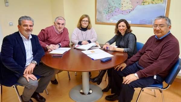 Patricia Navarro en una reunión con familias numerosas