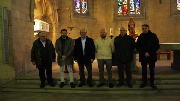Joan Reñé visita el monasterio de les Avellanes de Bellpuig