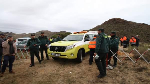 Dispositivo de búsqueda del niño Gabriel Cruz, en Níjar (Almería)