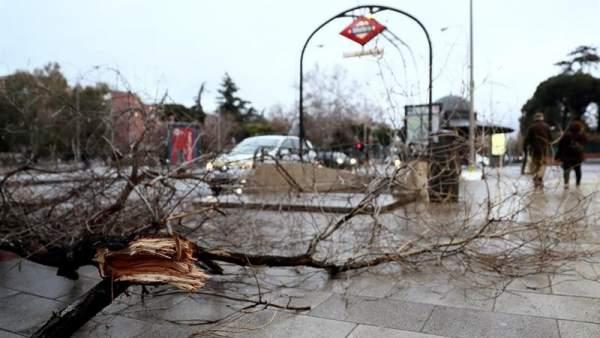 Temporal de viento en Madrid