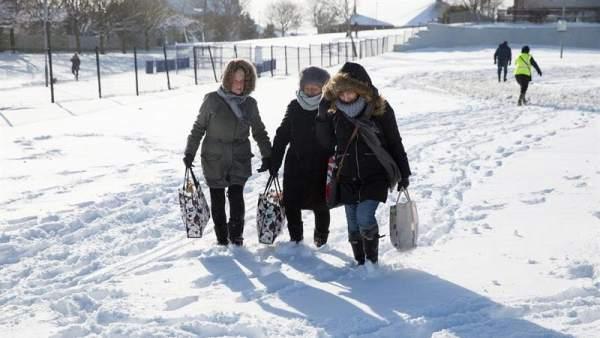Temporal de nieve en el Reino Unido