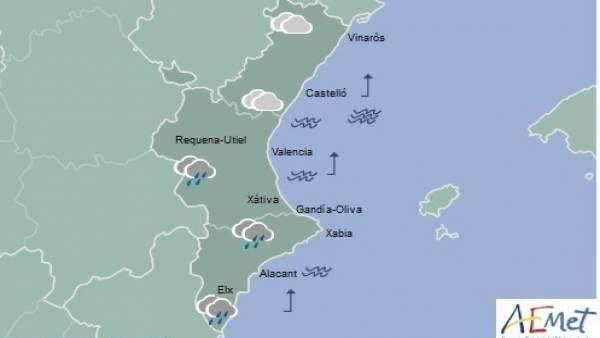 El cap de setmana comença amb pluges febles i temperatures màximes en descens a la Comunitat Valenciana