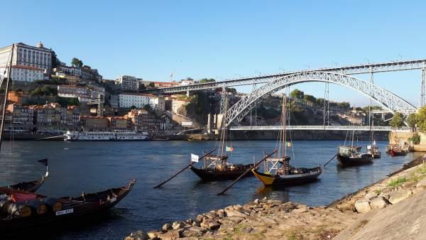 La localidad lusa de Oporto.