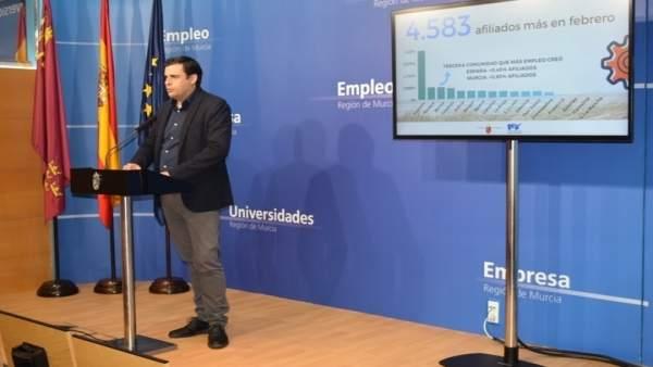 El director general del SEF, Alejandro Zamora, ha analizado datos del paro