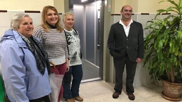 Instalación de un nuevo ascensor en el centro de salud Ronda del SUR