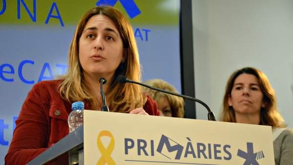 La coordinadora del PDeCAT, Marta Pascal, en rueda de prensa.