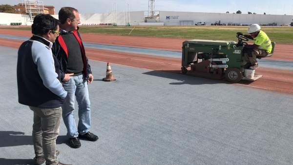 Nota De Prensa Y Fotos De Hoy, 2 De Marzo, Obras En El Estadio Iberomericano De